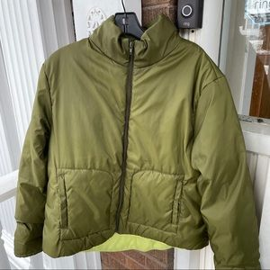 Tommy Hilfiger Green Puffer Coat